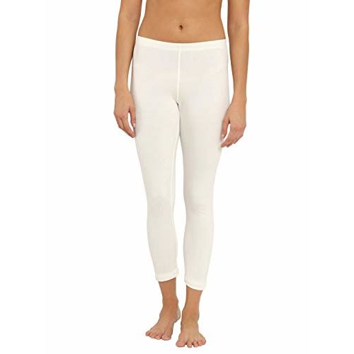 Jockey Women's Cotton Thermal Leggings (2520-0105-OFFWHITE-Medium)