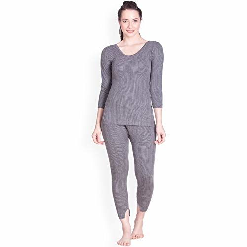 Lux Inferno Ladies 3/4 Thermal Top and Lower Set (80) Grey