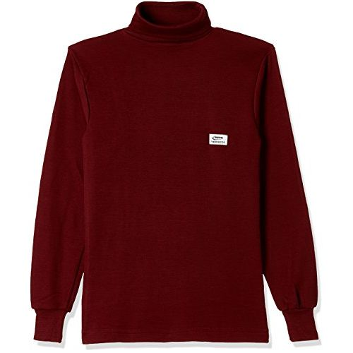 Rupa Thermocot Women's Plain/Solid Synthetic Thermal Top (Boiler_Maroon_80)