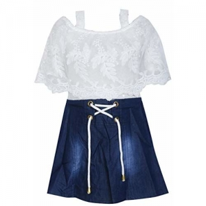BENKILS Cute Fashion Baby Girl's Jeans Skirt Dresses for (7-8 Years)
