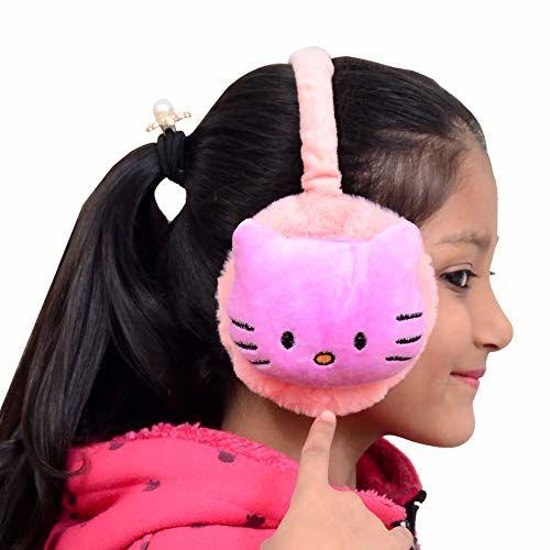Brats N Beauty Girl's I Boys Minnie Pattern Winter Outdoor Wear Adjustable Size Ear Muffs/Warmer for Kids, Ideal Head Accessory during winters. (Purple)