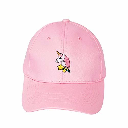 Dopamine Pink Unicorn Casual Wear Cap for Girls
