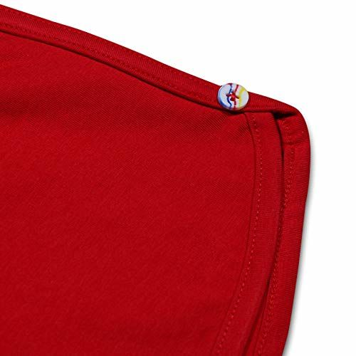Luke and Lilly Girl's Cotton Shorts (Red, Black and Yellow, 2 -3 Years) - Pack of 3