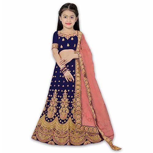 dharmi fashion kids lengha-choli purple (Blue-2)