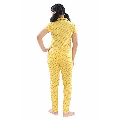 9shines Label Hosiery Cotton Printed Collar Pyjama Set for Girls