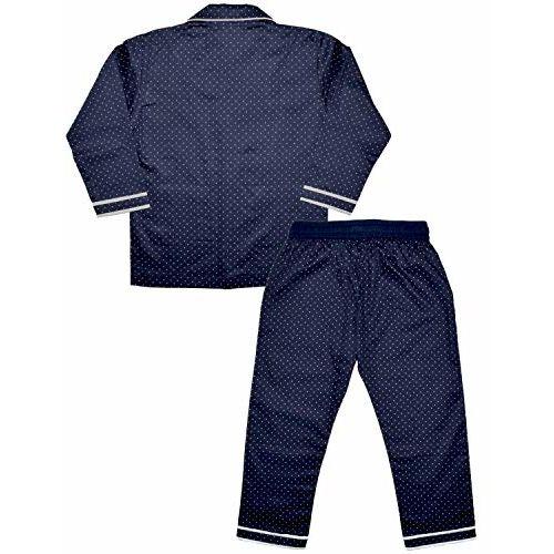 SHOPMOZO Boys Pure Cotton Night Suit Top and Bottom Combo Sleep Wear (SM-00164BOYSSWSS_2-3Y Navy Blue)