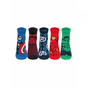 Supersox Boy's Disney Ankle Length Socks (Multicolour, Size 4-7 to 8 Years) - Pack of 5