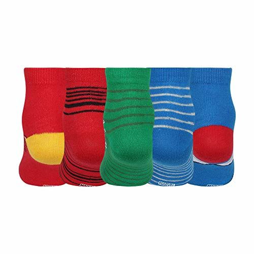 Supersox Disney Ankle Length Socks Collection for Kids Pack of 5 (Disney Avenger, Size 1 (1 to 2 Years))