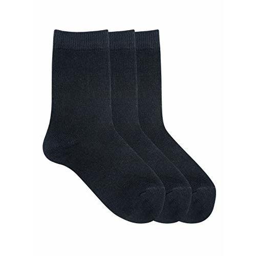 Mustang Kids Pack Of 3 Black Solid School Socks