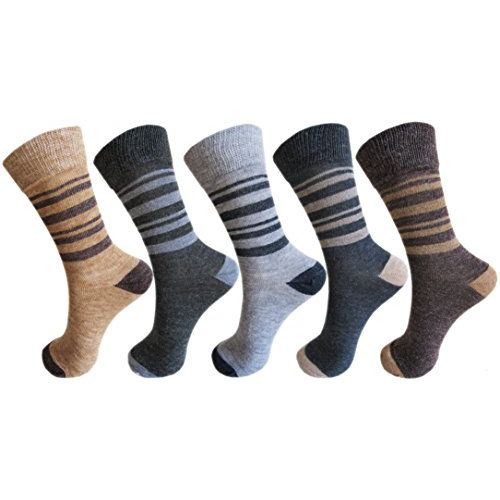 RC. ROYAL CLASS Kids Calf Length Stripped Multicolored Woolen Thick Socks (Pack of 5 Pairs) (12-18 Months)