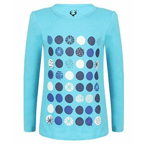Elk Girls' T-Shirt (Pack of 3) (SB70GT-FS-Sb-Gry-Or-45_Blue, Grey & Orange_2-3 Years)