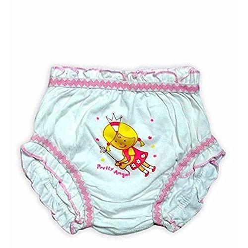 GMR Girls' Cotton Bloomers (Pack of 10) (BM - $ -45_White_0-3 Months)