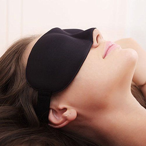 FreShineBlind Sleeping Eye Mask Slip Night Sleep Eye black 3D Cotton Cover Super Soft & Smooth Travel Masks for Men Women Girls Boys Kids