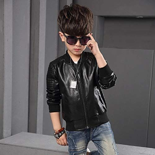 Generic Black Leather Solid Jacket