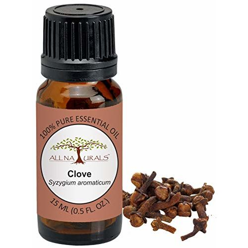 ALL NATURALS Clove Essential Oil 15ML 100% Pure for Toothaches, Joints Pain, Spirituality, Beauty & Focus