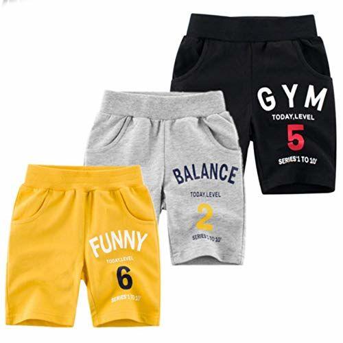 KYDA KIDS 100% Fleece Cotton Kids Shorts for Boys & Girls - Regular Fit Casual Short for Unisex, Multicolor - Pack of 3