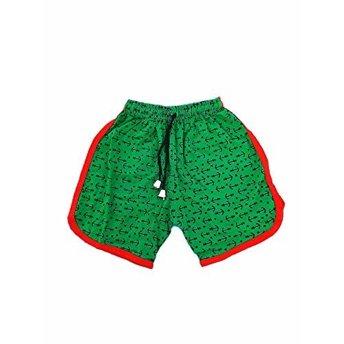 SUNUO Printed Boys Sports Shorts 100% Cotton for Kids (Multicolur-Set of -3) (4-5 Years)