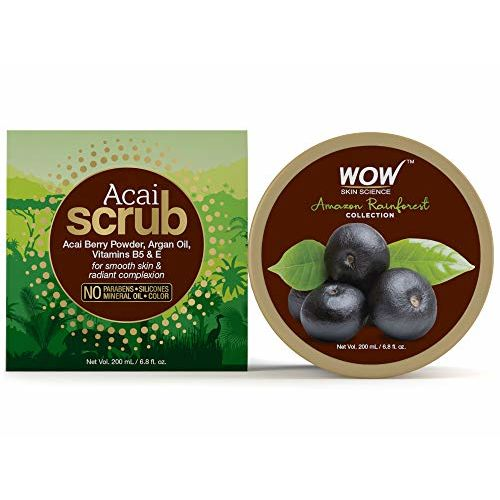 WOW Amazon Rainforest Collection - Rain Forest Acai Face and Body Scrub -WOW Amazon Skin Science Rainforest Collection - Mineral Face Pack + Brazilian Kaolin White Clay