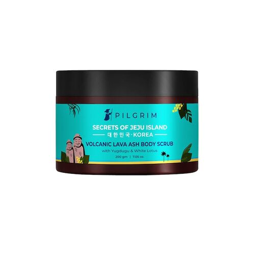 Pilgrim Body Scrub & Polish for Exfoliation, Tan Removal, Skin Lightening & Deep Cleaning, Men and Women, Korean Beauty Secrets, 200g