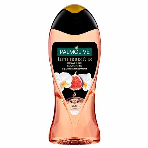 Palmolive Body Wash Luminous Oils Rejuvenating, 250ml Bottle, Shower Gel with 100% Natural Fig Oil & White Orchid Extracts
