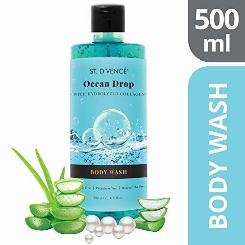 ST. D'VENCE Ocean Drop Body Wash With Marine Collagen, 500ml, 500 ml