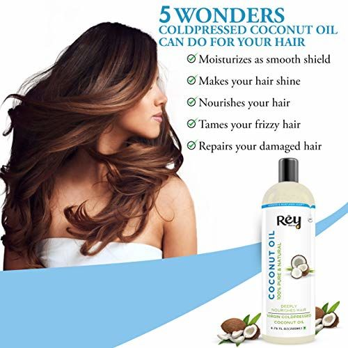 Rey Naturals Cold-Pressed, 100% Pure Castor Oil & Coconut Oil - Moisturizing & Healing, For Skin, Hair Care, Eyelashes (200 ml + 200 ml) super saver combo