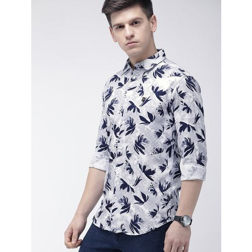 The Indian Garage Co white printed casual shirt