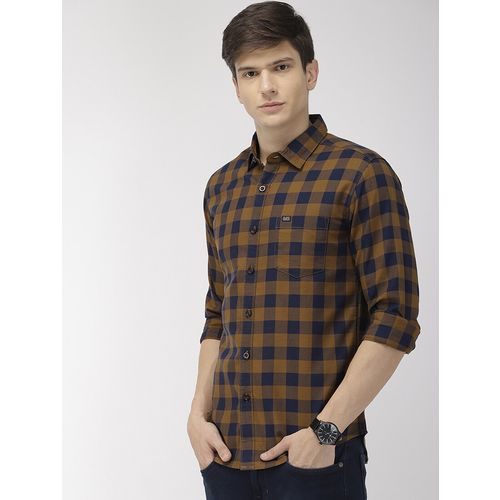 The Indian Garage Co green checkered casual shirt