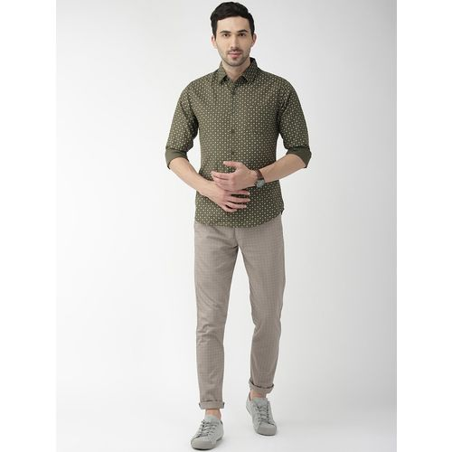 The Indian Garage Co green printed casual shirt
