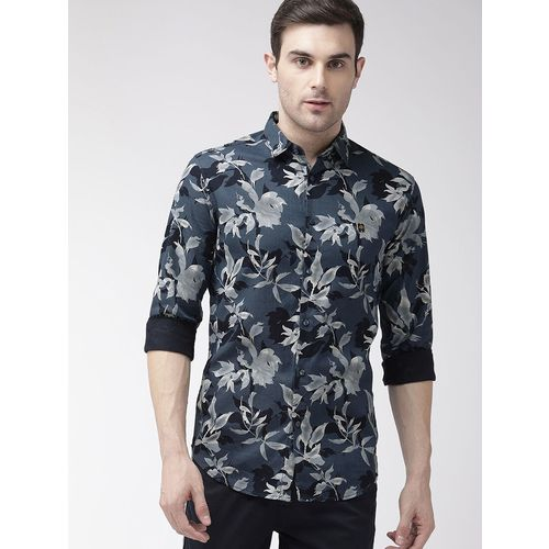 The Indian Garage Co blue floral print casual shirt