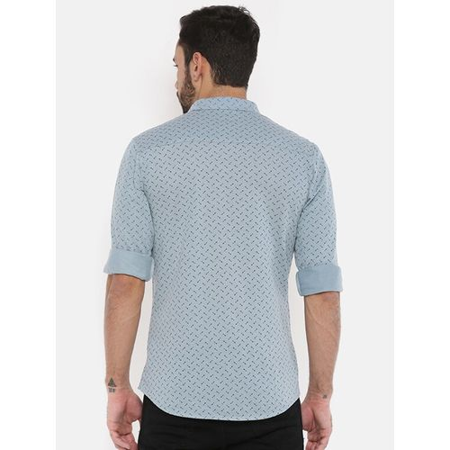 The Indian Garage Co grey printed casual shirt
