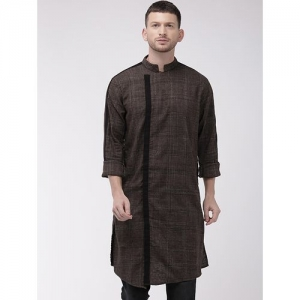 The Indian Garage Co brown solid long kurta