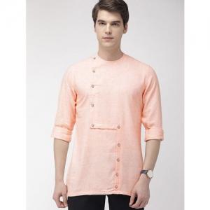 The Indian Garage Co orange checkered short kurta