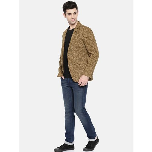 The Indian Garage Co brown cotton single breasted blazer