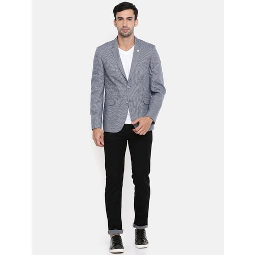 The Indian Garage Co blue cotton casual blazer