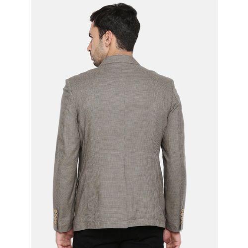 The Indian Garage Co beige cotton casual blazer