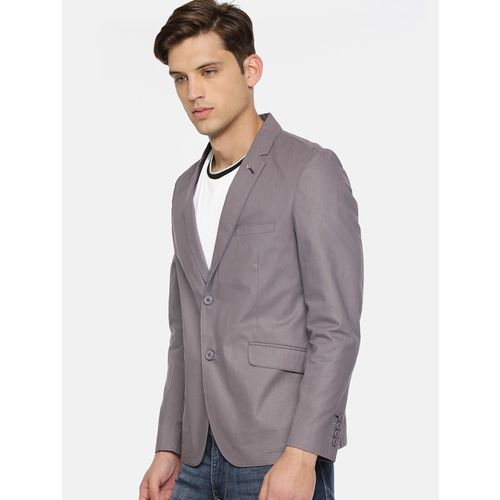 The Indian Garage Co grey cotton casual blazer