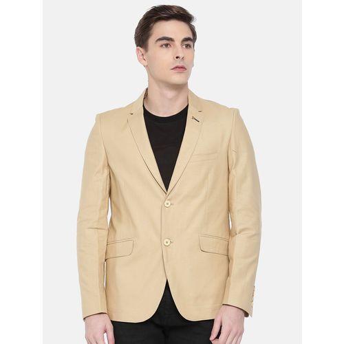 The Indian Garage Co beige cotton formal blazer
