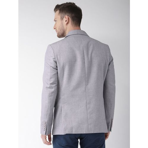The Indian Garage Co grey solid formal blazer