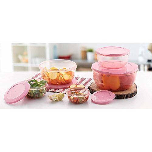 Bhavyam 5 pcs Plastic Container Set for Kitchen Refrigerator(290 ml,580 ml,1000 ml,1700 ml,2700 ml/Multi)