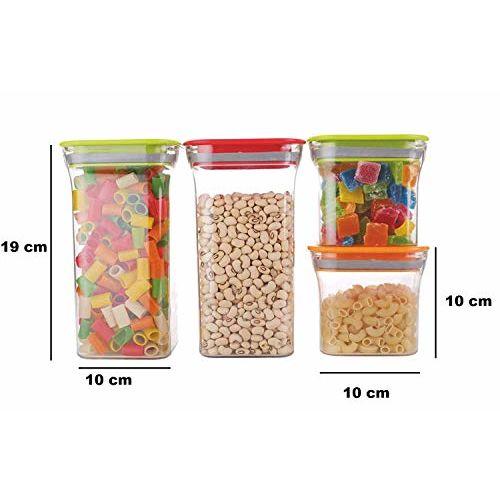 Machak 16 pcs Unbreakable Air Tight Food Storage Jar Kitchen Container Set (Blue, 16)