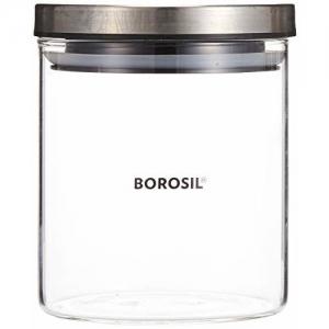 Borosil - IDFCJ060001 Classic Glass Jar for Kitchen Storage, 600 ml