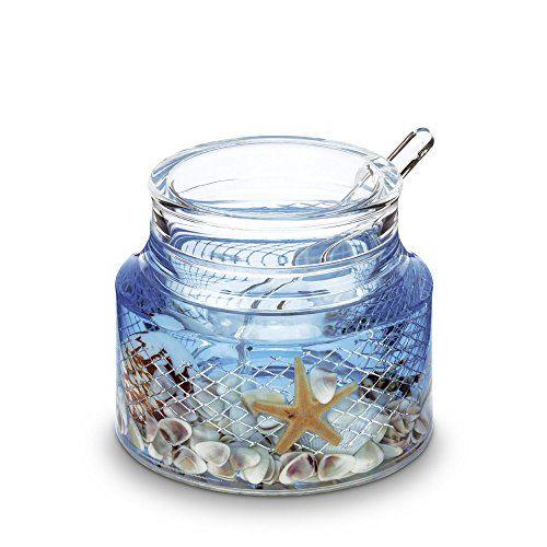 Freelance Eden Acrylic Kitchen & Dining, Condiment Jam Jar Set Dispenser Box Holder Keeper Case Dish with Lid & Spoon
