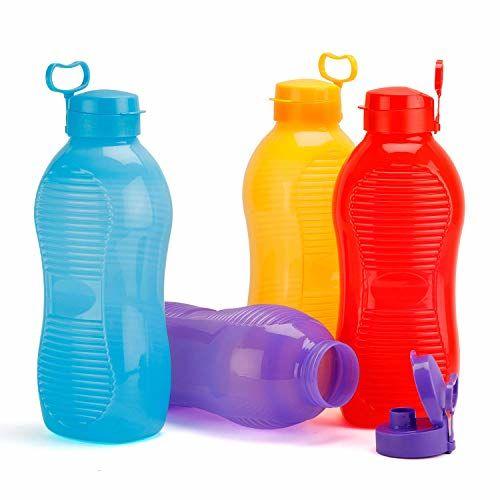 Oliveware King 2 Litre Water Bottle Blue | for Home, Office & Gym | 2000 ML King Size | Sturdy with Holder | BPA Free Premium Bottle | Best Big 2L Bottle