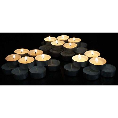 Ripp Unscented Wax Tealights Candles Smokeless Candles Set of 50 (White) Burning time Approx 3-4 Hour