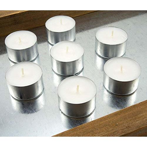 Ein Sof Tealight Candles 100% Pure Wax, Unscented, Pack of 10, Guaranteed 9 Hours Burning time, White Unscented Tea Light Candles