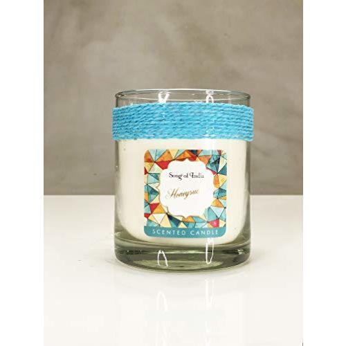 Song of India Honeysuckle Little Pleasures Scented Candle In Golden Glass Jar-200 g