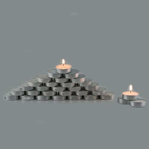 ENJOY the celebration people Wax Tealight Candles (Set of 50, White, 4 Hours Burn Time) by Enjoy.