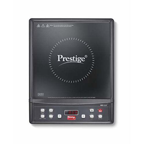 Prestige Iris 1.0 1200 Watt Induction Cooktop with Push Button (Black)