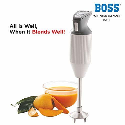 Boss E111 125-Watt Portable Hand Blender (Grey/White)